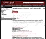 Econometrics Applications and Datasets -MIT Open Courseware