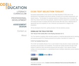 CCSS Text Selection Toolkit