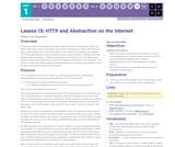 CS Principles 2019-2020 1.13: HTTP and Abstraction on the Internet