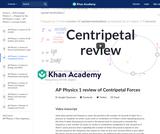 AP Physics 1 review of Centripetal Forces