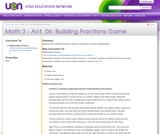 Building Fractions Game
