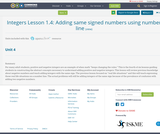 Integers Lesson 1.4:   Adding same signed numbers using number line