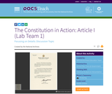 The Constitution in Action: Article I (Lab Team 1)