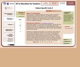 Subject-Specific Tools II