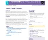 CS Principles 2019-2020 1.5: Binary Numbers