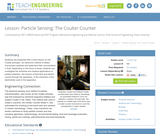 Particle Sensing: The Coulter Counter