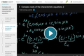 Differential Equations: Complex Roots of the Characteristic Equations 2