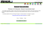 Element Concentration Game