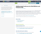 CQI Statewide Conference for Child Welfare and Probation 2018