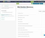 Wiki Checklist—Elementary