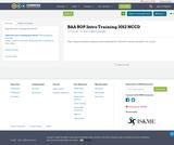 BAA SOP Intro Training 2012 NCCD