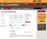 Geometry of Manifolds, Spring 2007