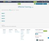 Effective Tutoring