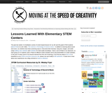 Lessons Learned With Elementary STEM Centers