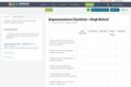 Argumentation Checklist —High School