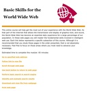 Basic Skills for the World Wide Web