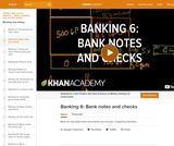 Banking, Money, Finance: More on How Bank Notes and Checks Can Be Used