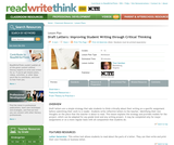 Draft Letters: Improving Student Writing through Critical Thinking