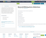Research & Writing about a Global Issue