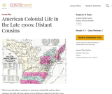 American Colonial Life in the Late 1700s: Distant Cousins