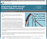 Engineering Skills through Problem Based Learning
