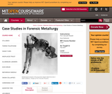 Case Studies in Forensic Metallurgy, Fall 2007