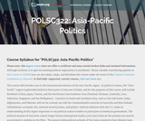 Asia-Pacific Politics