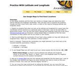Practice With Latitude and Longitude