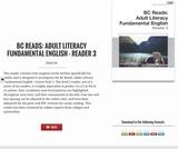 BC Reads: Adult Literacy Fundamental English - Reader 3