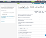 Biography Checklist—Middle and High School