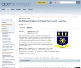 CNS Examination of Facial Nerve and Hearing