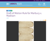 Draft of Motion Rule for Marbury v. Madison