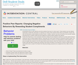 Positive Peer Reports: Changing Negative Behaviors By Rewarding Student Compliments