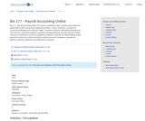 BA 177 - Payroll Accounting Online