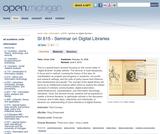 Seminar on Digital Libraries