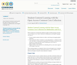 Student-Centered Learning with the Open Access Common Core Collection