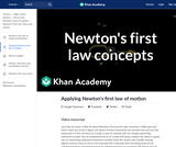 Applying Newton's first law of motion