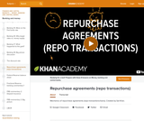 Banking, Money, Finance: Mechanics of Repurchase Agreements