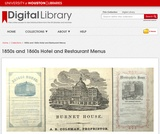 1850s & 1860s Hotel and Restaurant Menus