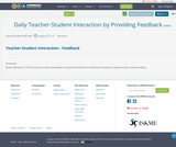 Daily Teacher-Student Interaction by Providing Feedback
