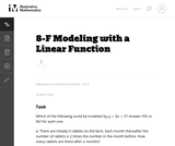 Modeling with a Linear Function