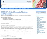 Critical Geospatial Thinking and Applications
