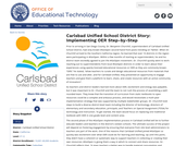 Carlsbad Unified School District Story: Implementing OER Step-by-Step