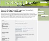 Issues in Ecology, Issue 12: Impacts of Atmospheric Pollution on Aquatic Ecosystems