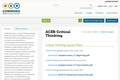 ACES: Critical Thinking