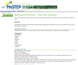 Backyard Science...The Five Senses