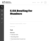 Bowling for Numbers