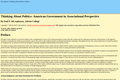 Thinking About Politics: American Government in Associational Perspective