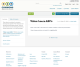 Video: Learn ABC's