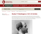 Reading Like a Historian: Booker T. Washington and W.E.B. DuBois